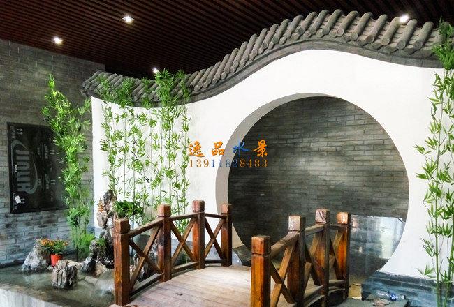 室内小桥_假山,北京假山水幕墙,假山图片-水幕墙假山水景设计