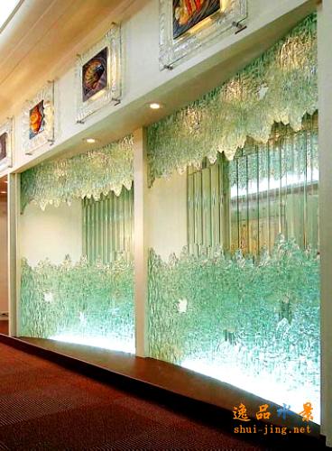 玻璃水幕墙121 水幕墙设计假山水景,室内庭院水幕墙效果图图片