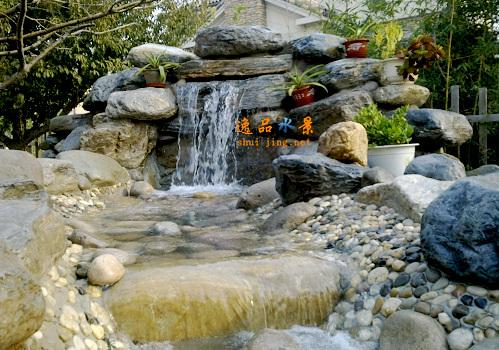 别墅庭院假山水系设计